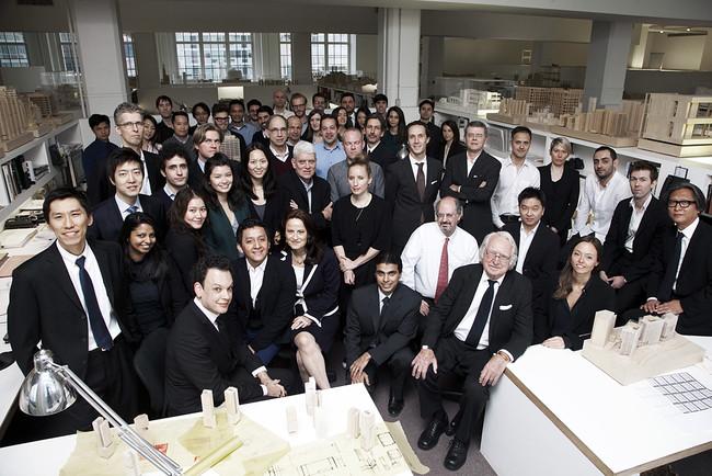 Richard Meier và nhân viên