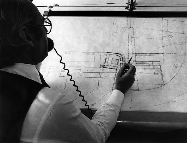 Richard Meier phác thảo bản vẽ