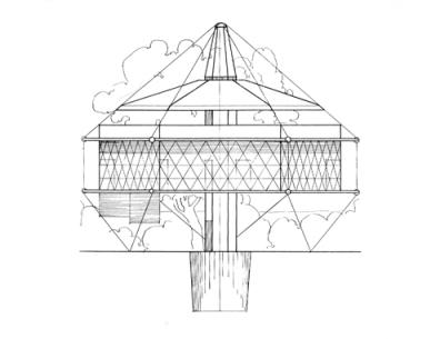 Mặt đứng căn nhà Dymaxion