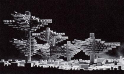 Thành phố trên không của Arata Isozaki năm 1960