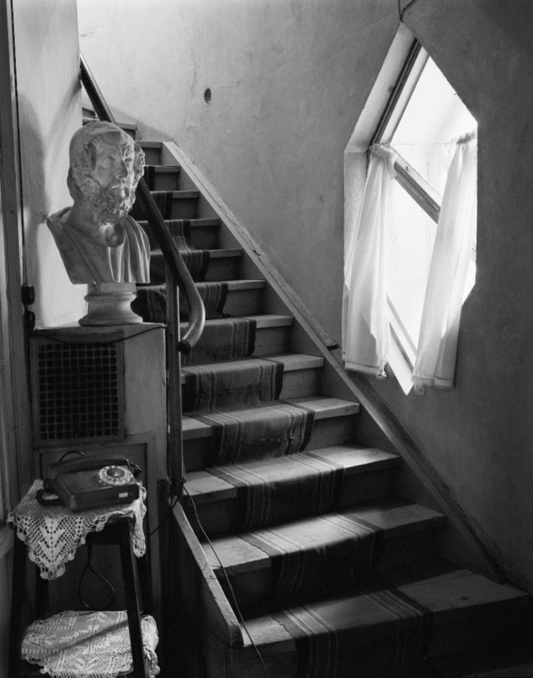 Дом Мельникова, лестница на второй этаж.