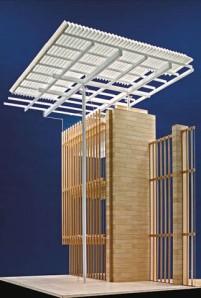 Mô hình chi tiết một dự án  của KTS Richard Roger
