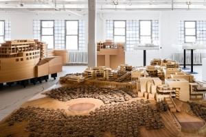 Mô  hình dự án Trung tâm Getty của KTS Richard Meier