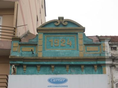 Chi tiết nhà số 148 phố Nguyễn Thái Học năm xây dựng: 1924