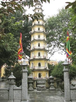 Hình 13. Tháp chùa Liên Phái