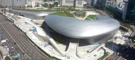 Dongdaemun Design Plaza, Seoul, 2010, Zaha Hadid.