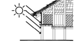 Hình 5b. Cấu tạo mái nhà rộng chống mưa hắt
