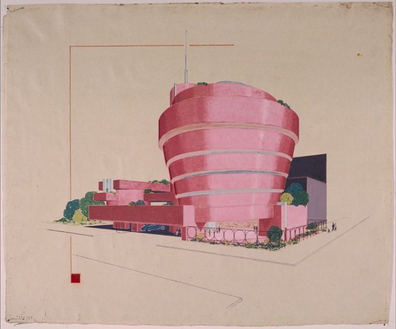 Guggenheim-NY-Wright-sketch-red
