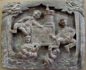 Chủ đề Uống rươu, đình Ngọc Canh, Vĩnh Phúc. (Nguồn Phạm Thị Chỉnh, 2013)